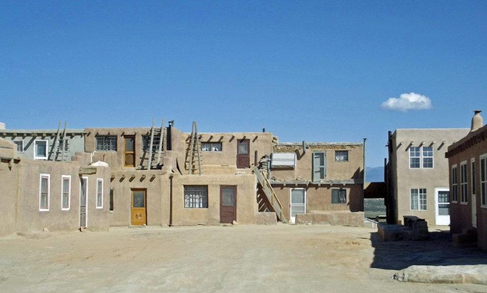 Group of adobe houses
