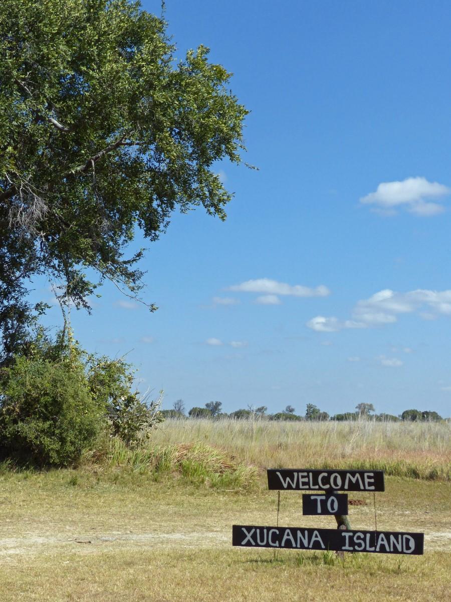 Welcome to Xugana Island sign