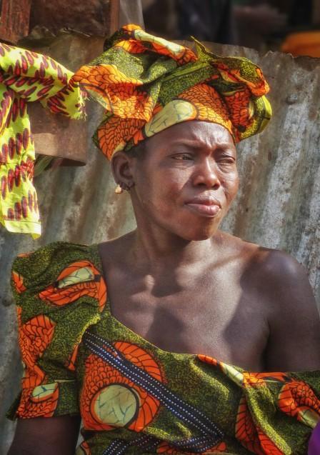 Woman at an African market