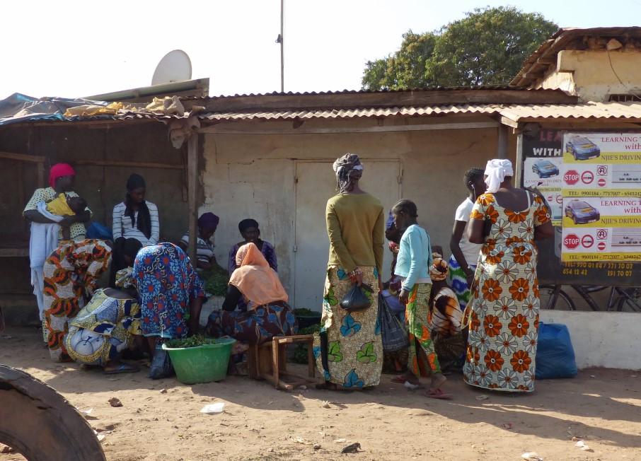 Women at an African market