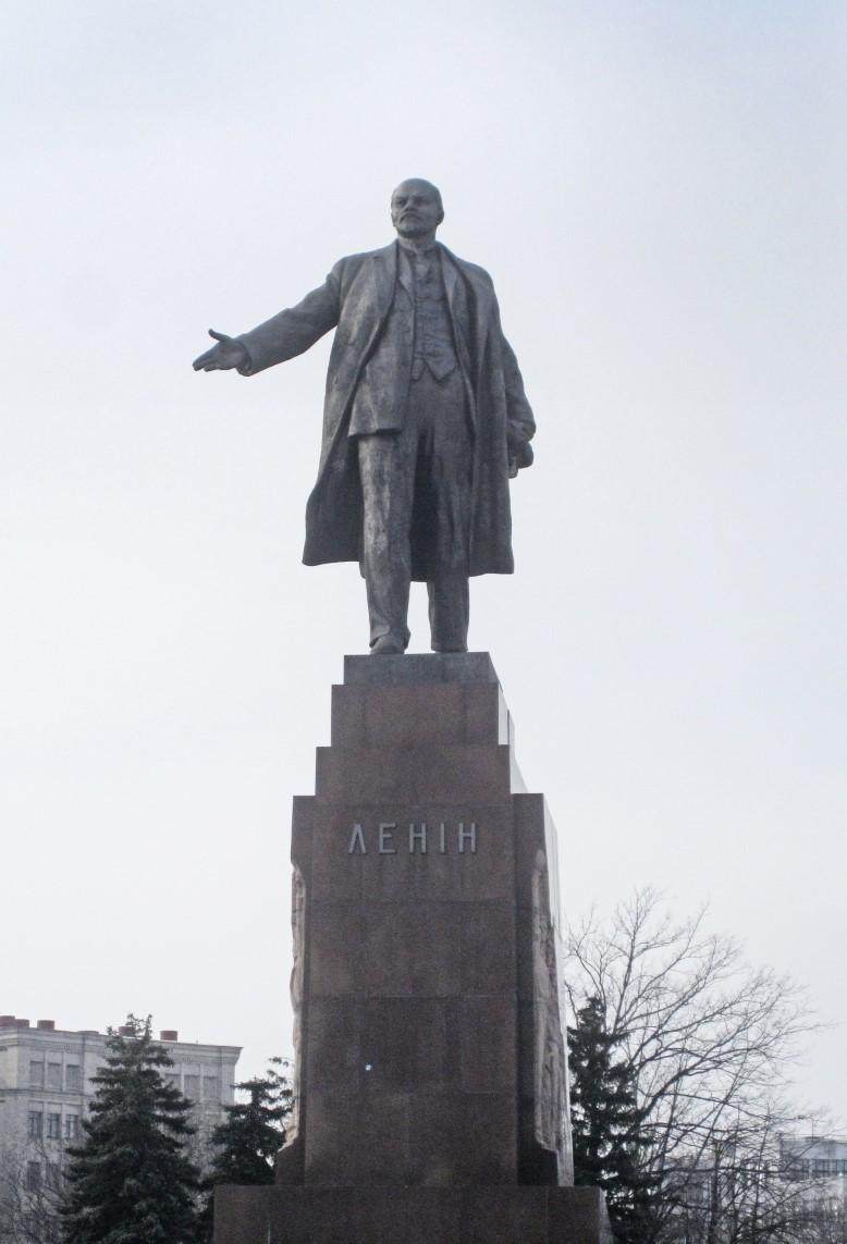 Large statue of imposing figure
