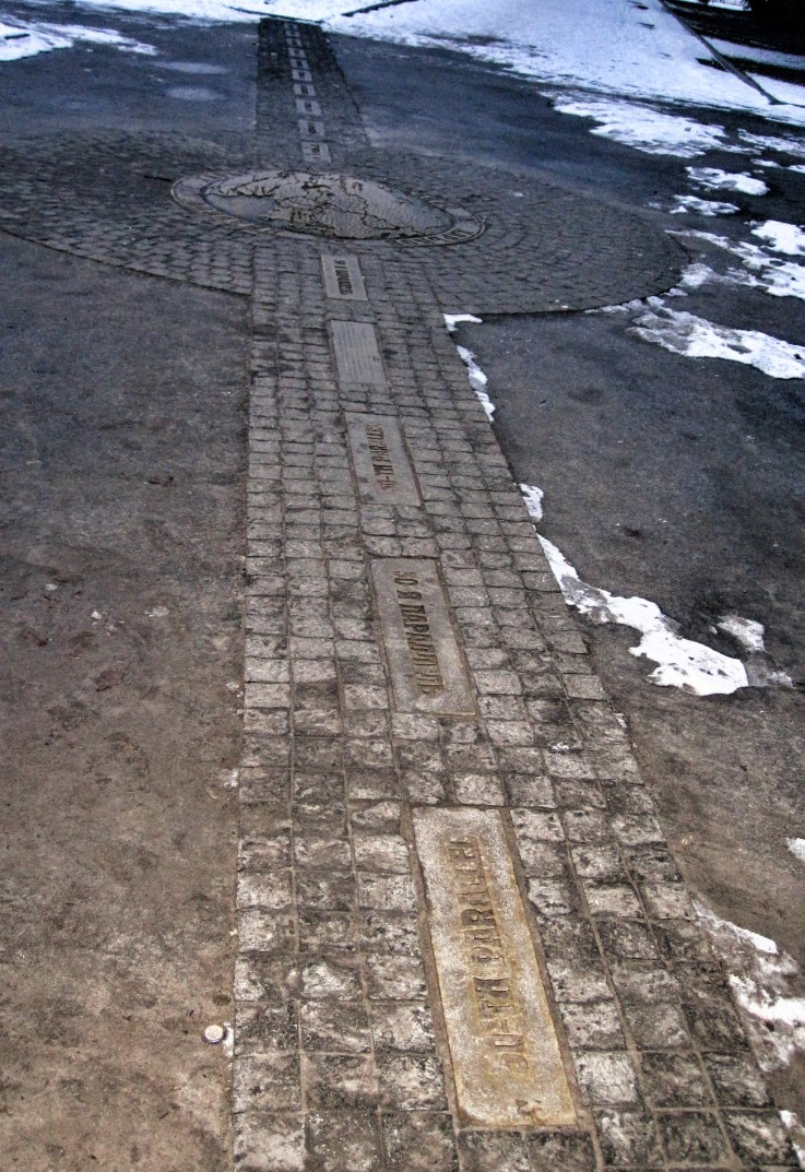 Line of stones set in a path