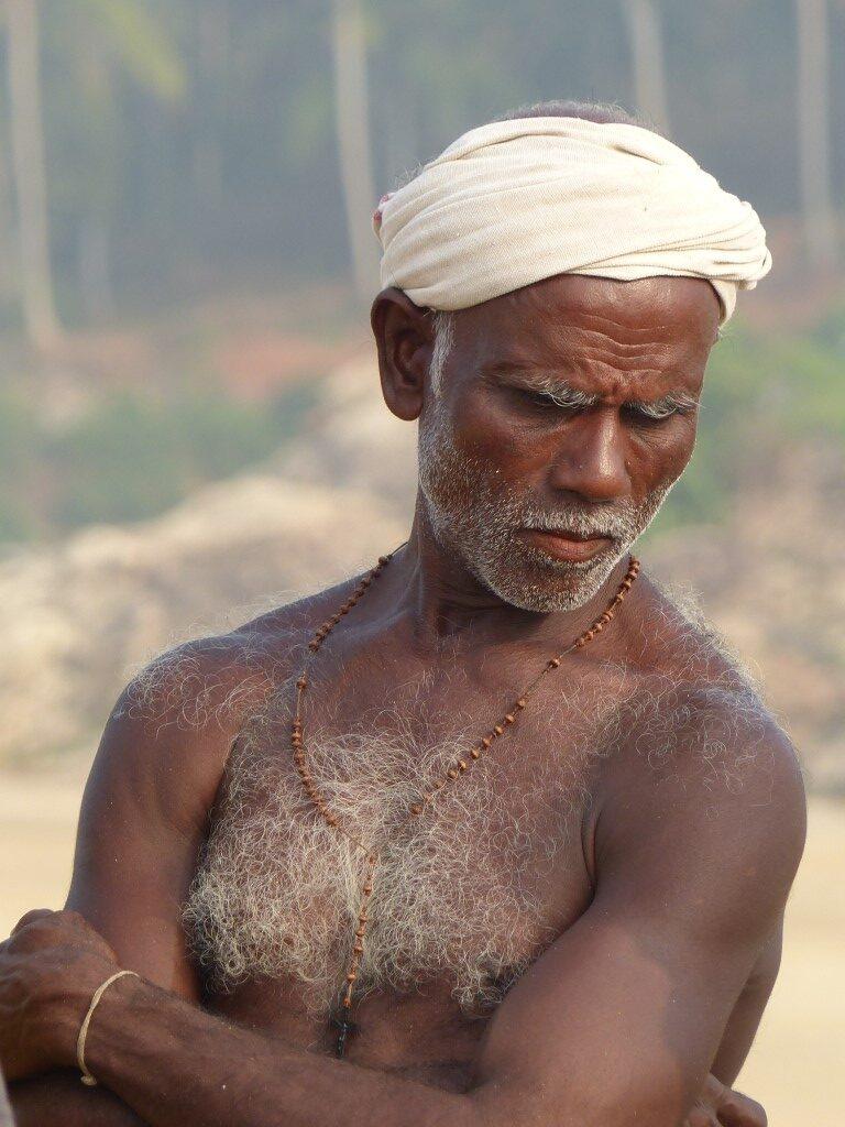 Man in a turban looking pensive