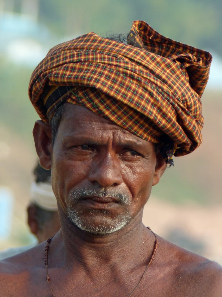 Man in a checked turban