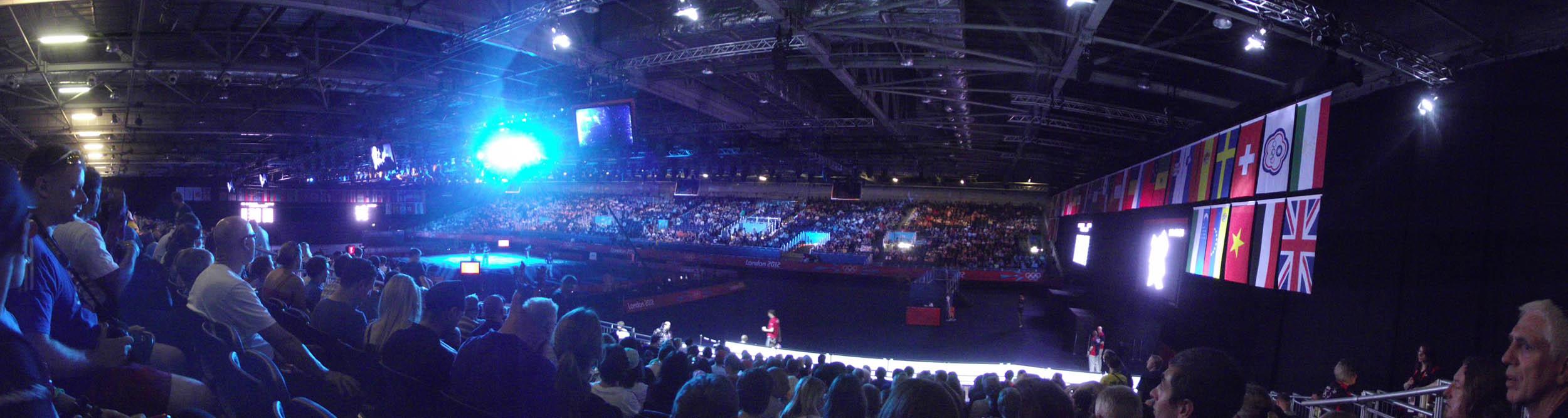 Panoramic view of indoor arena