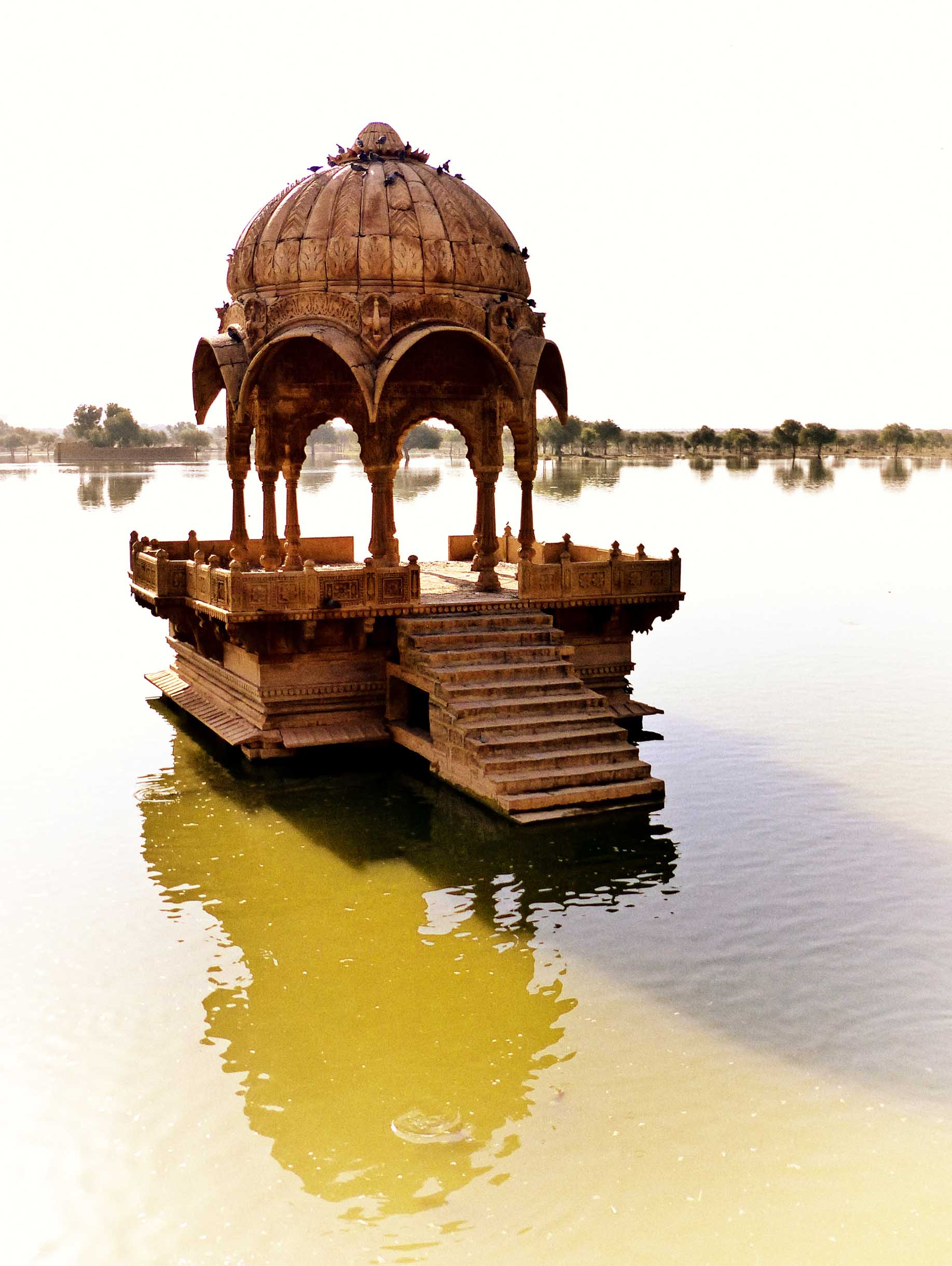 Domed building in a lake