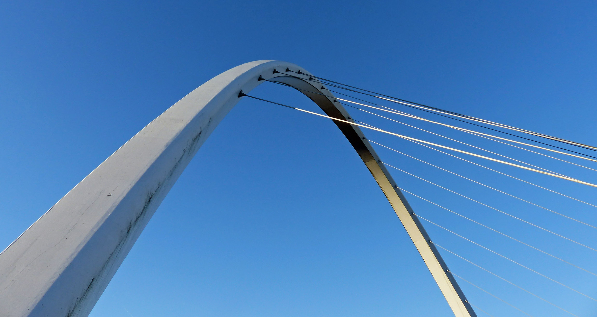 Modern bridge over a river
