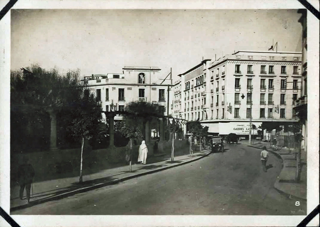 Old photo of city street
