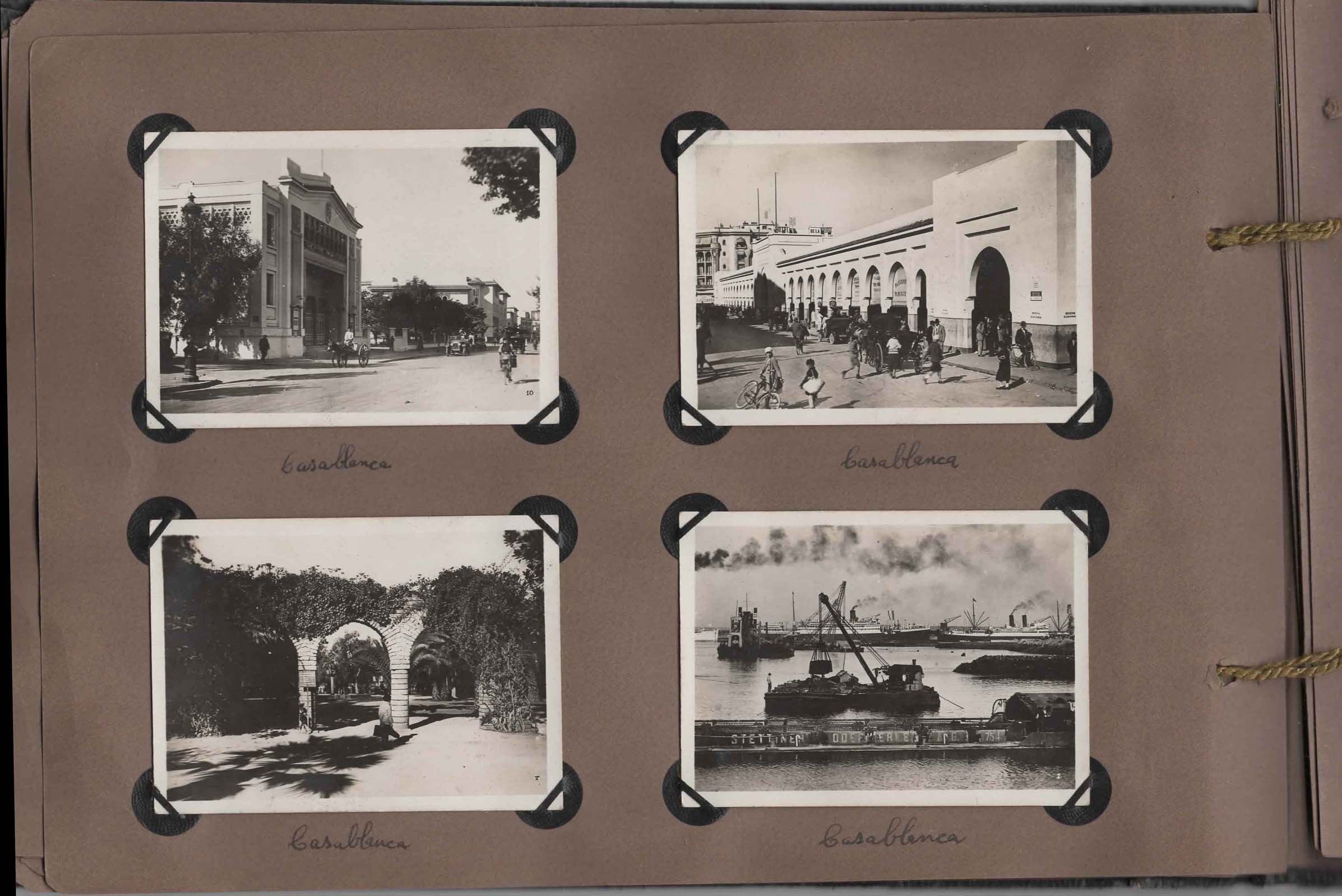 Page from old photo album