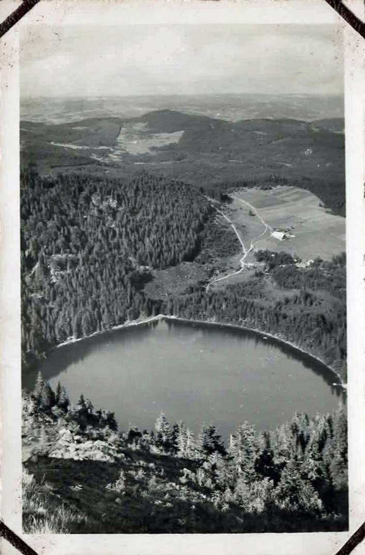 Old mountain landscape photo