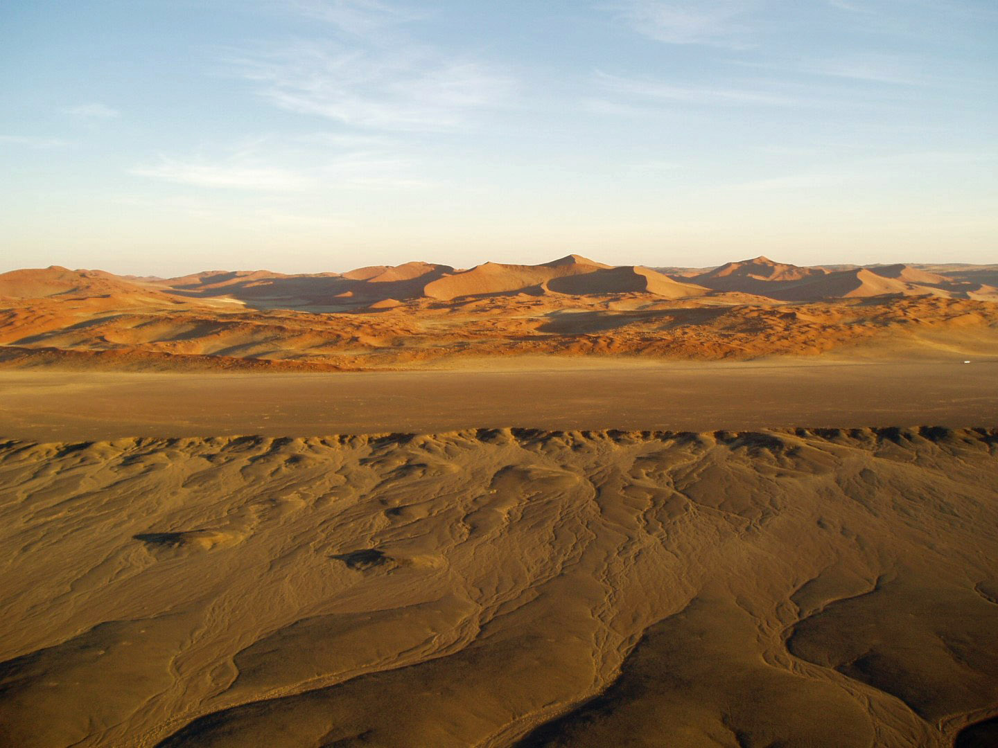 Sand dunes from high above