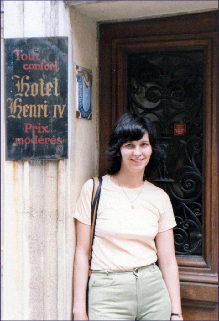 Young woman in doorway