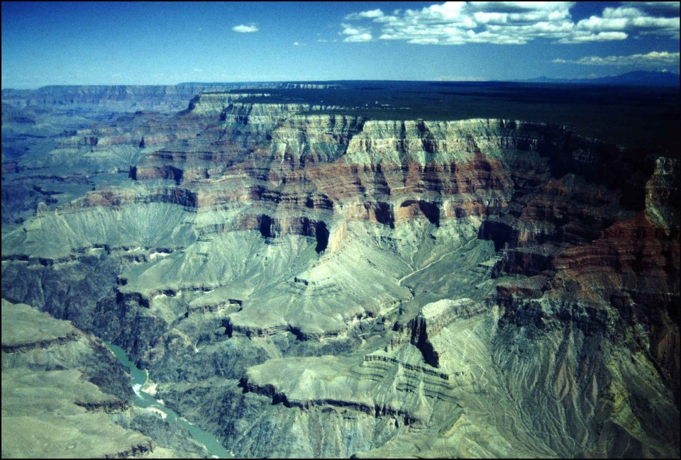 Deep canyon seen from the sky