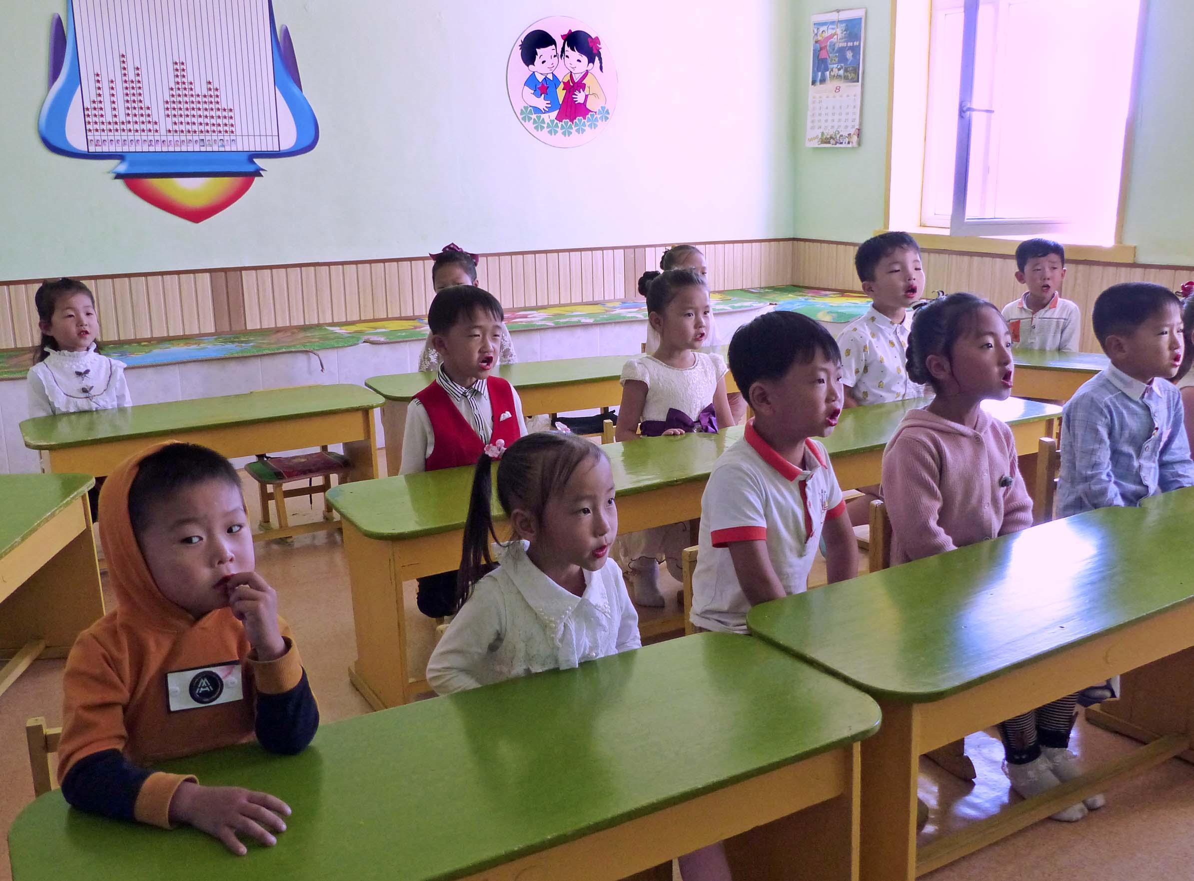 A class of small children