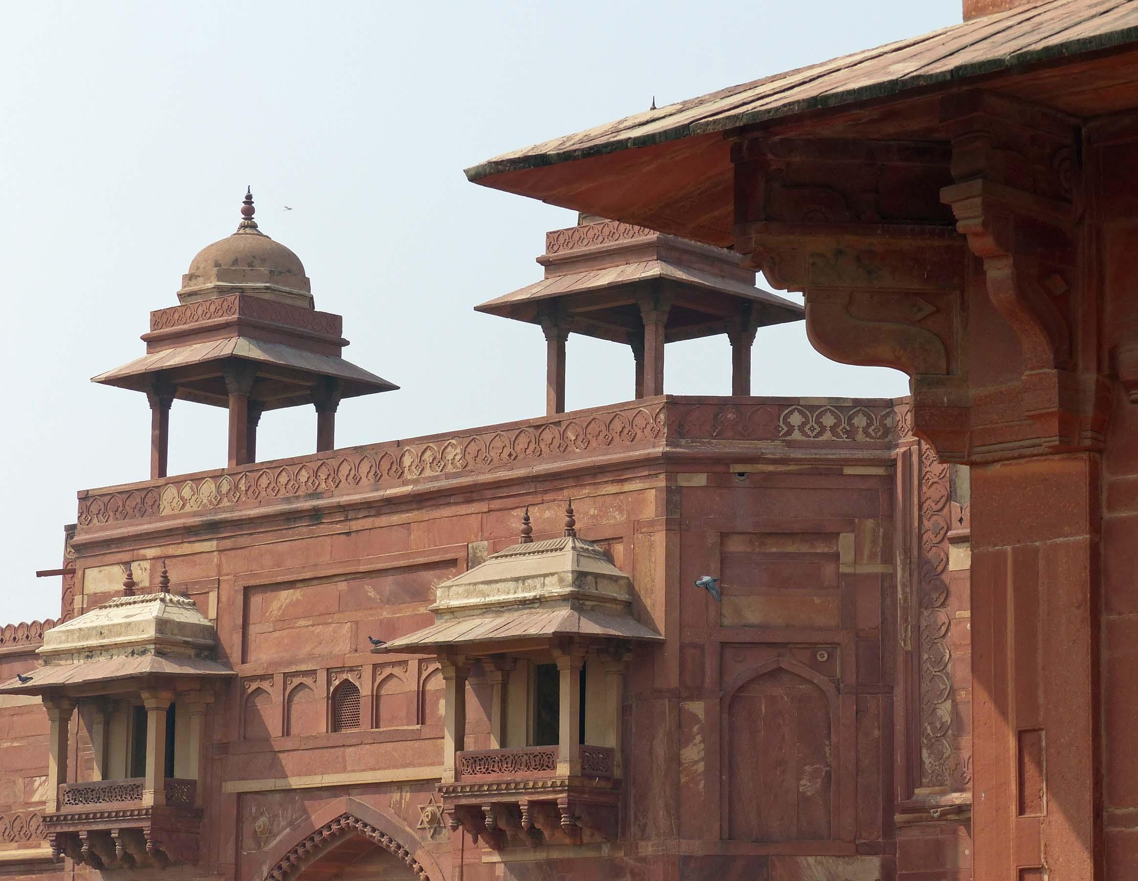 Ornate red sandstone building