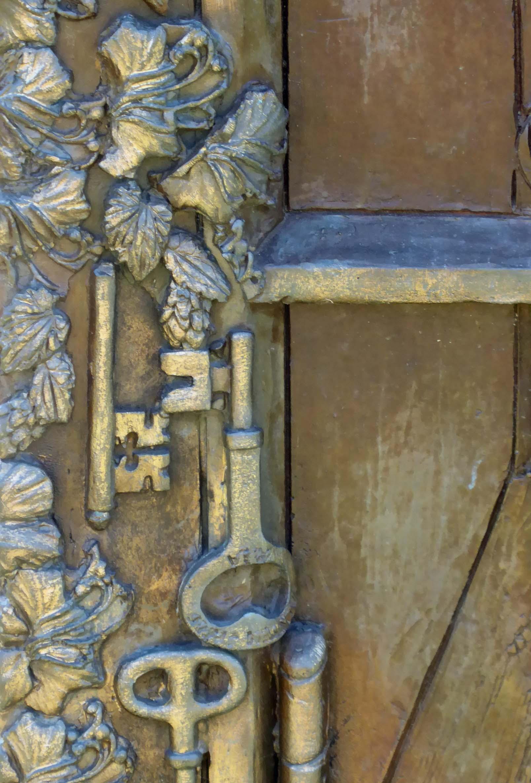 Detail of carving of keys