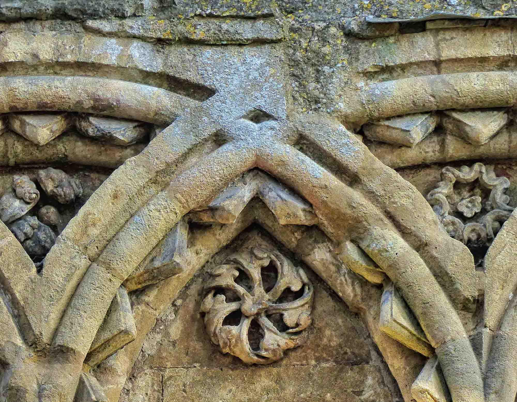 Detail of carved stone