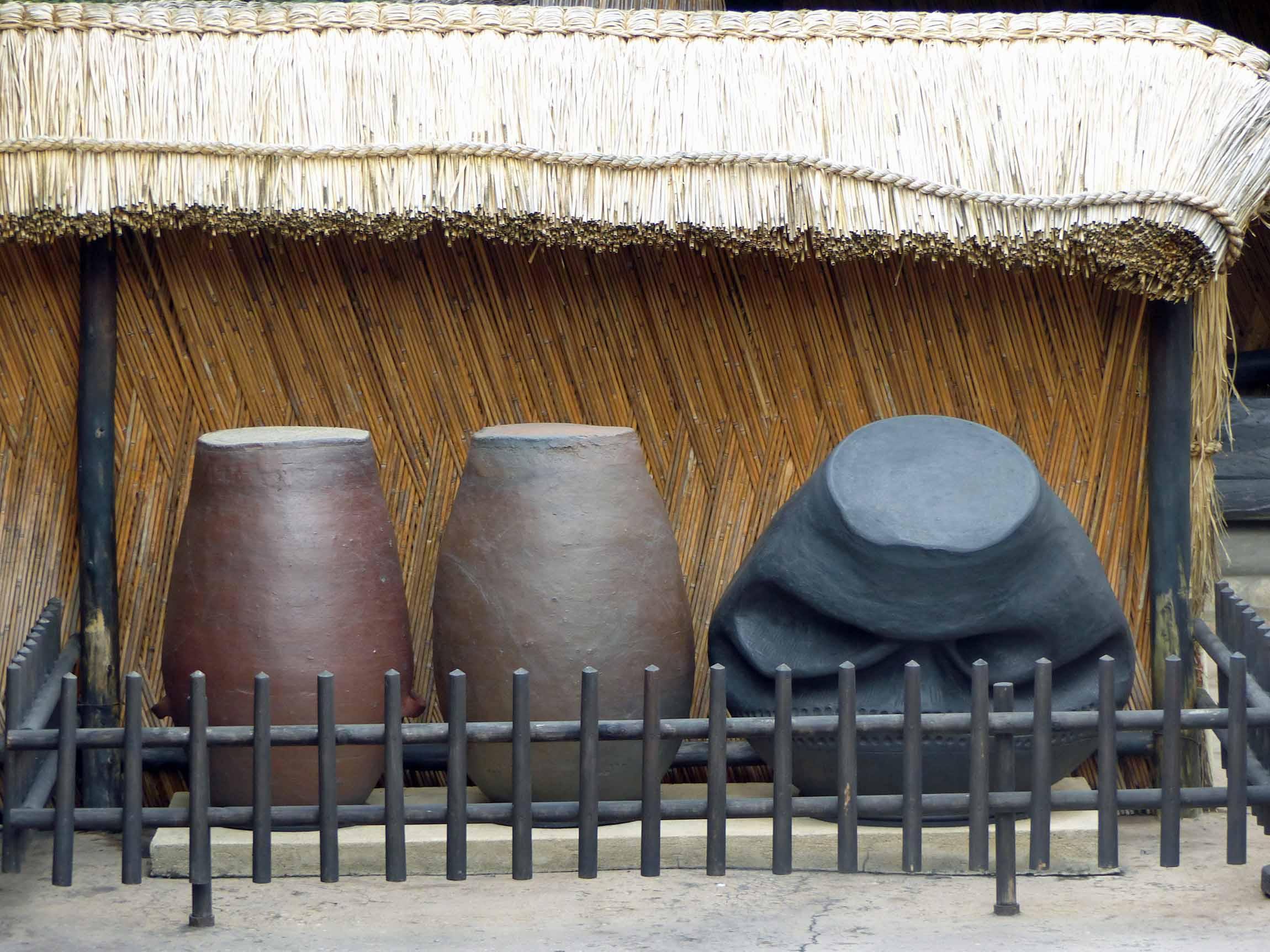 Large damaged pots