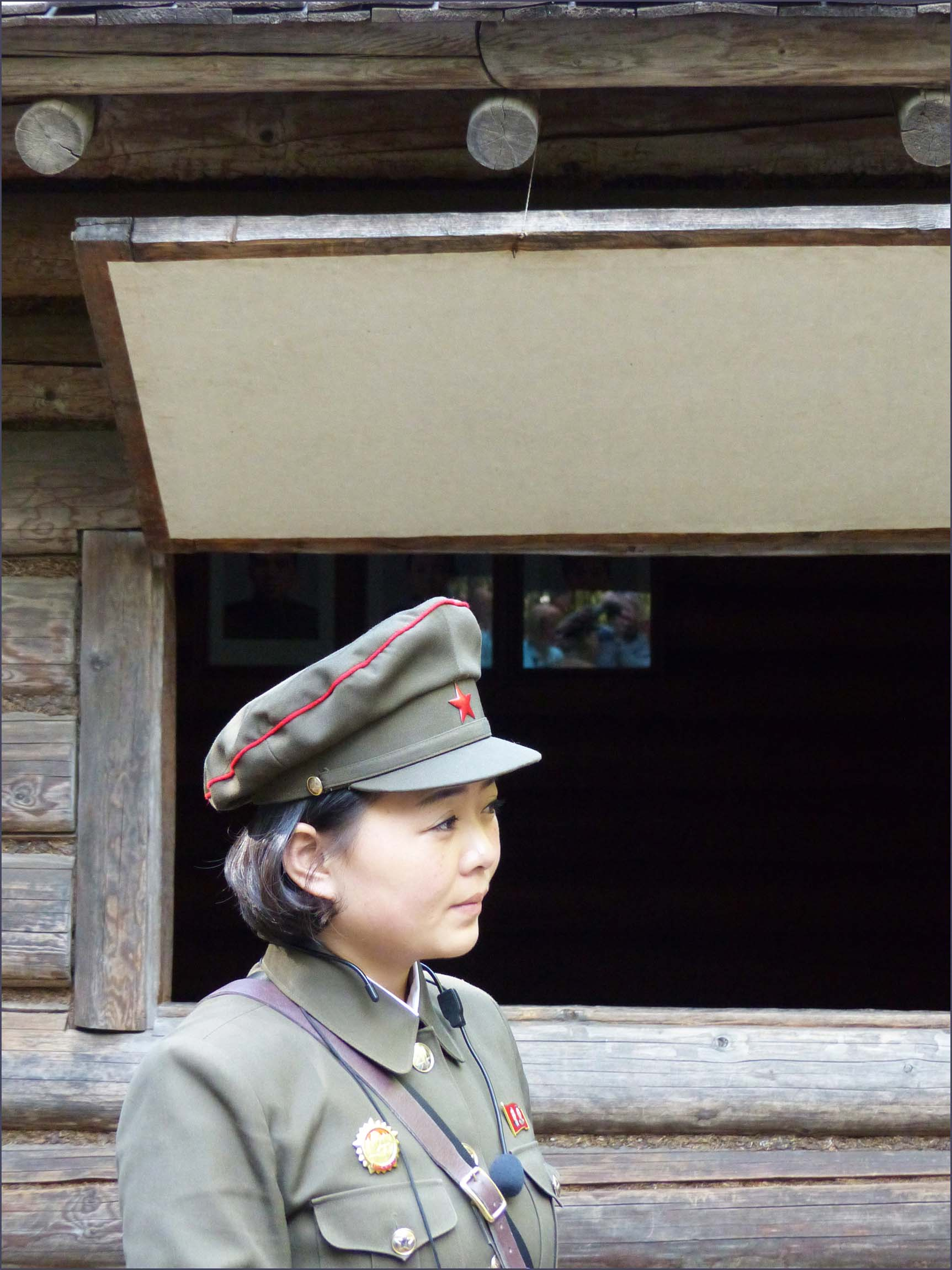 Young lady in military uniform