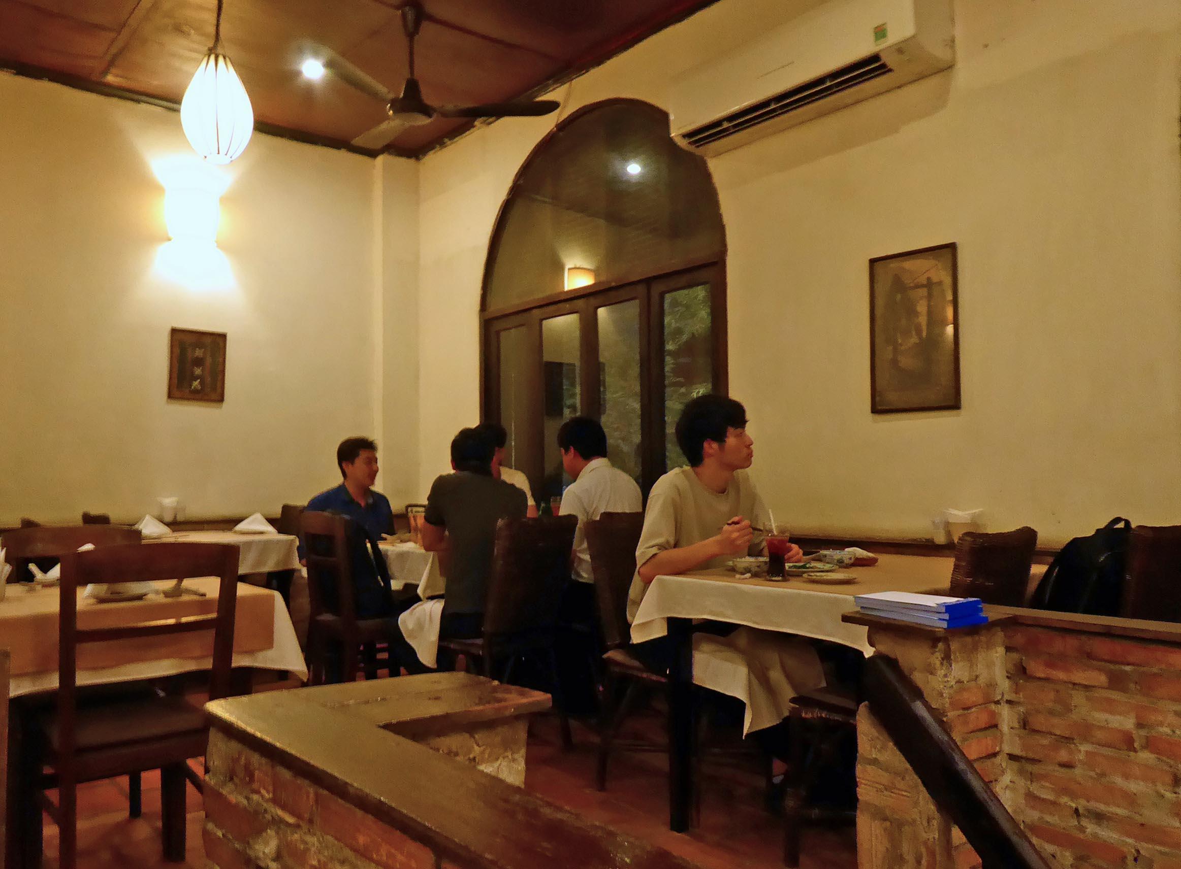 Inside a restaurant