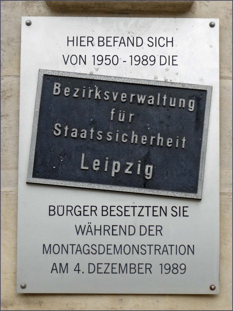 Metal sign with German text