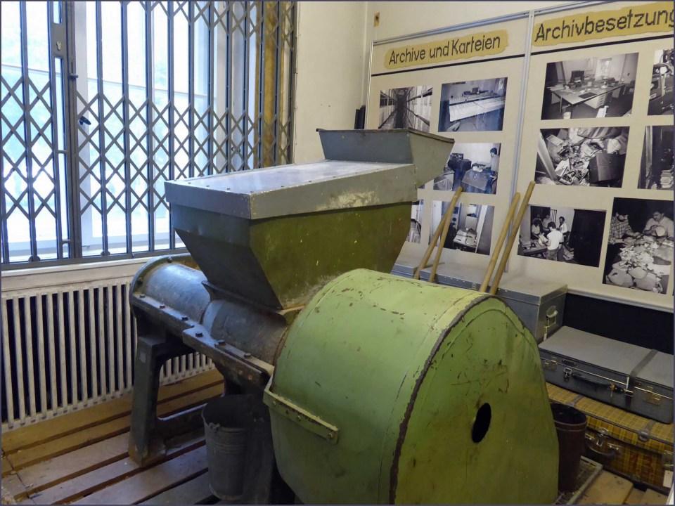 Large green metal machine