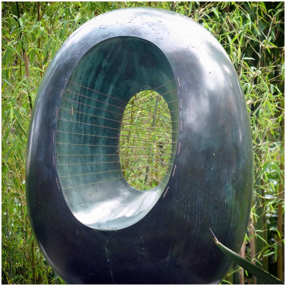 Modern sculpture in a garden