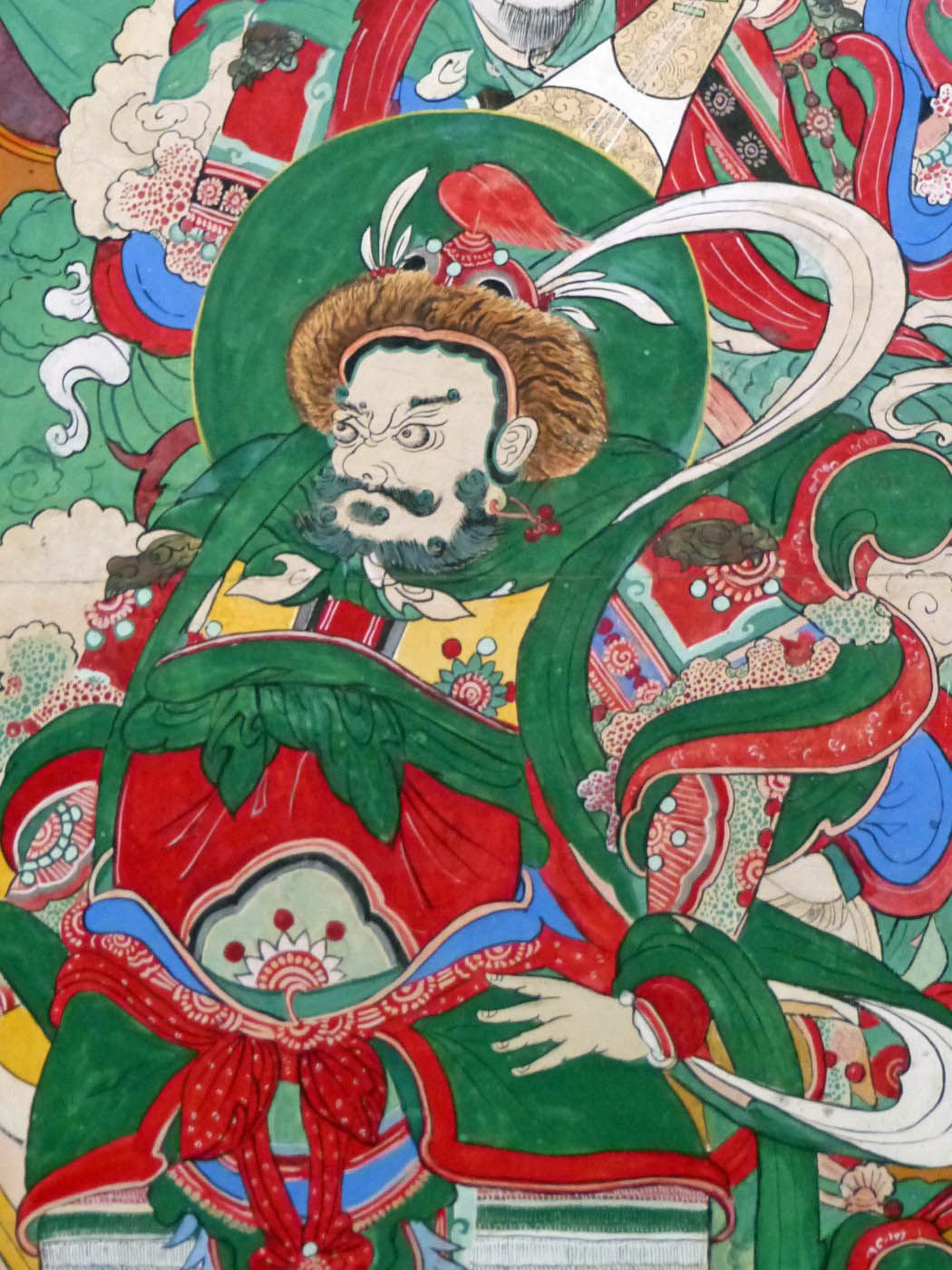 Colourful painting of fierce god