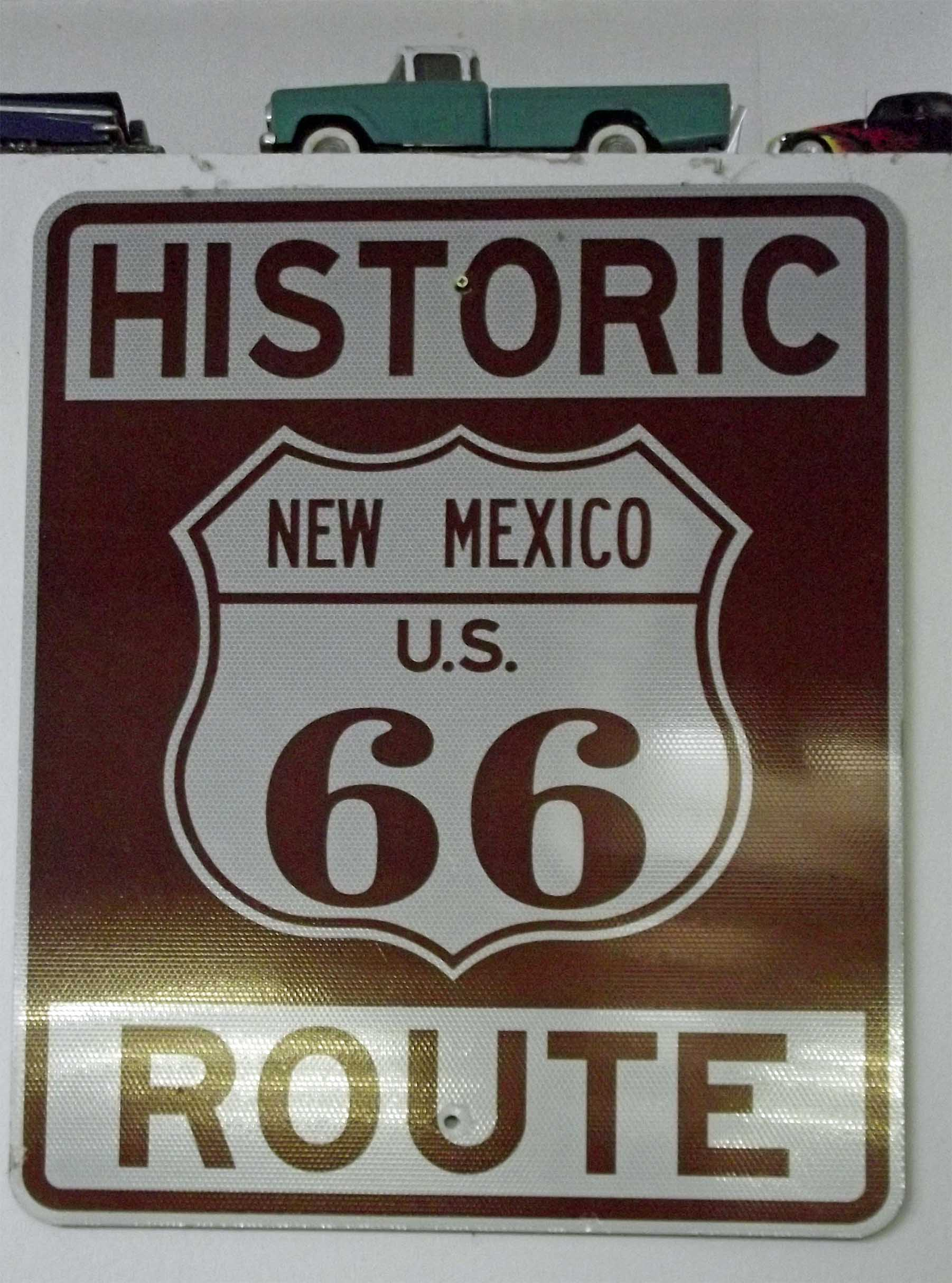 Route 66 New Mexico sign
