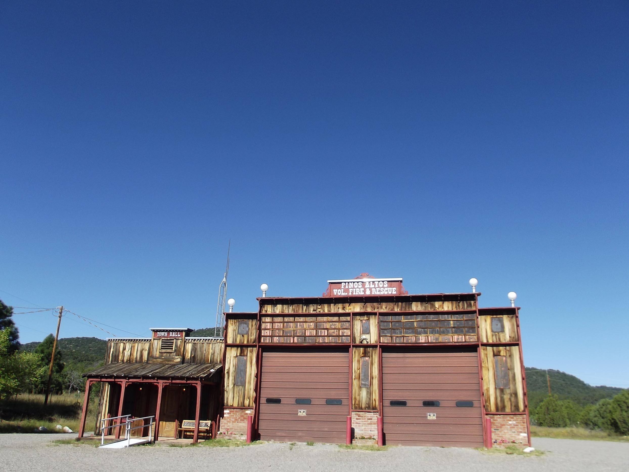 Old wooden fire station