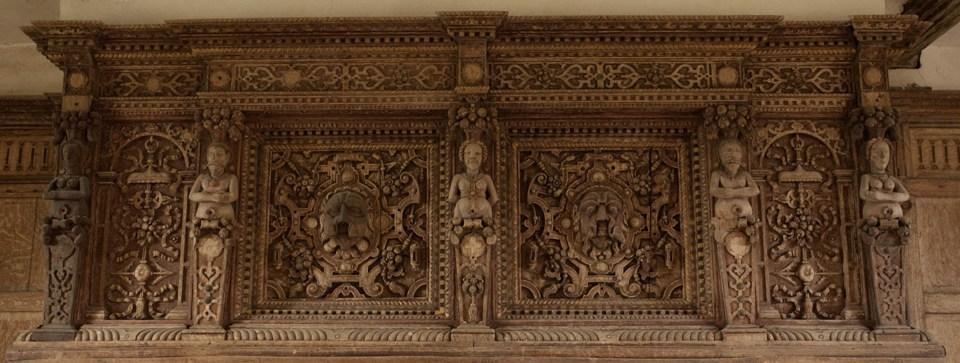 Detailed carved woodwork