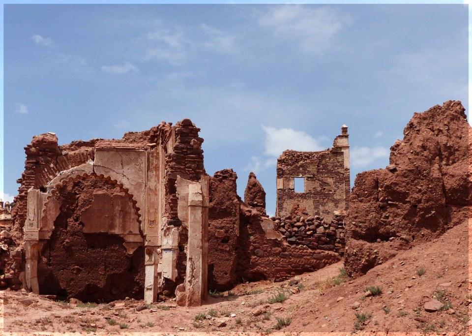 Red sandstone ruins