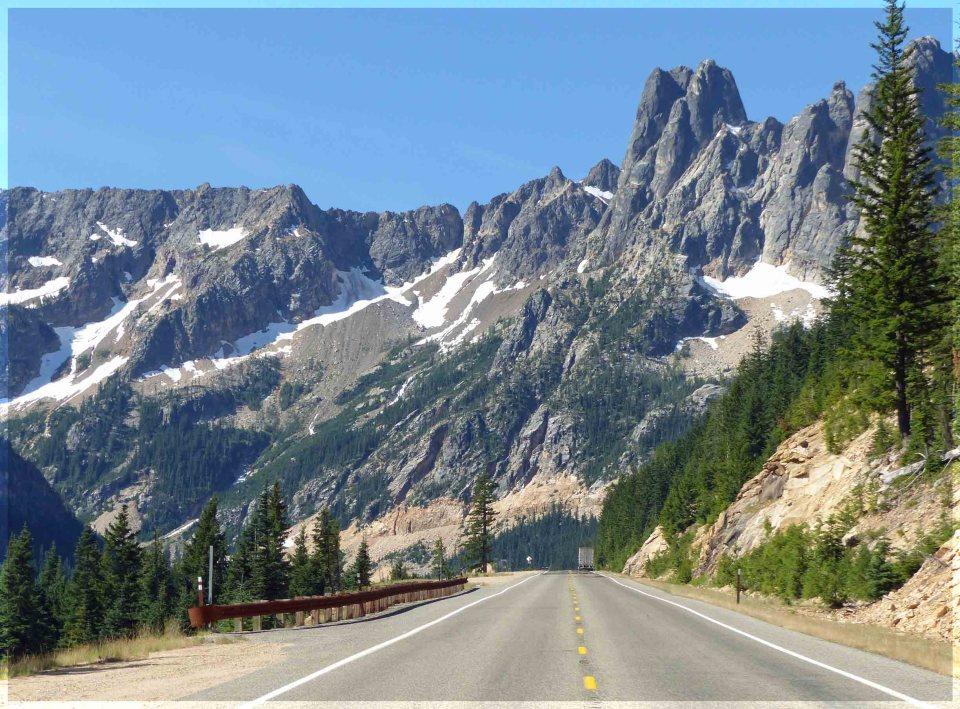 Road through a mountain pass