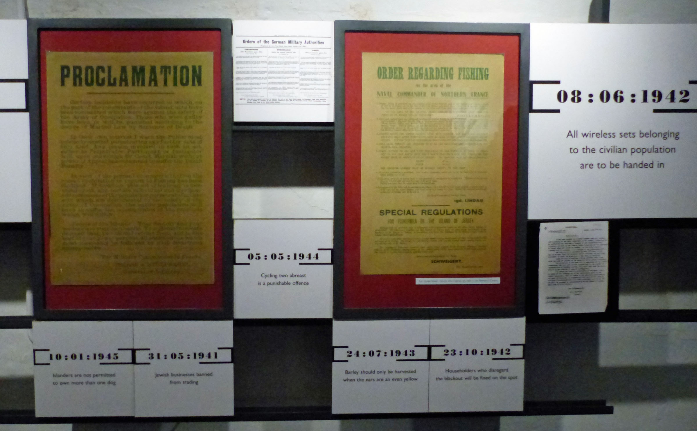 Posters and signs about restrictions