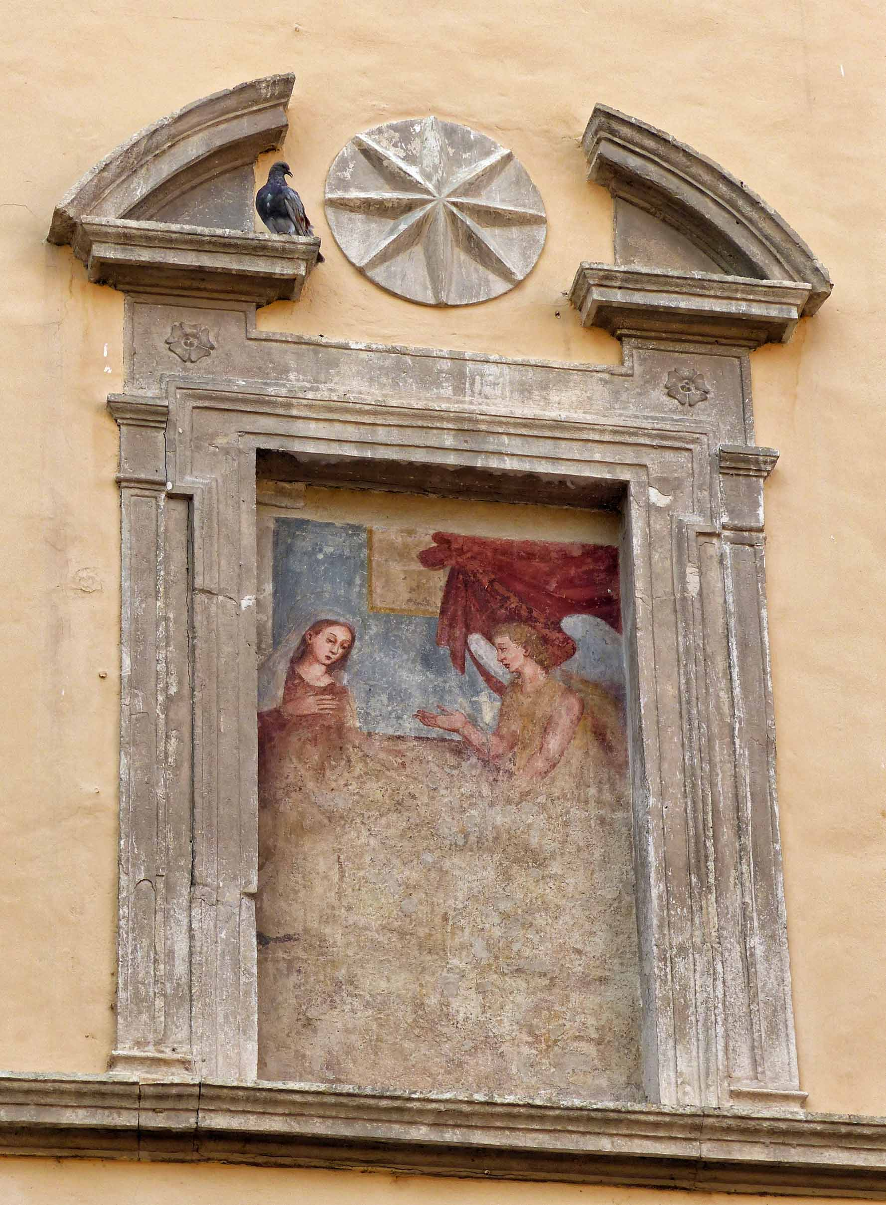 Painting of angels on a wall