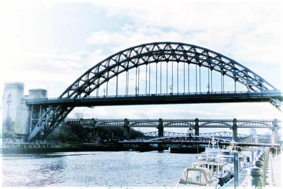 River with several bridges