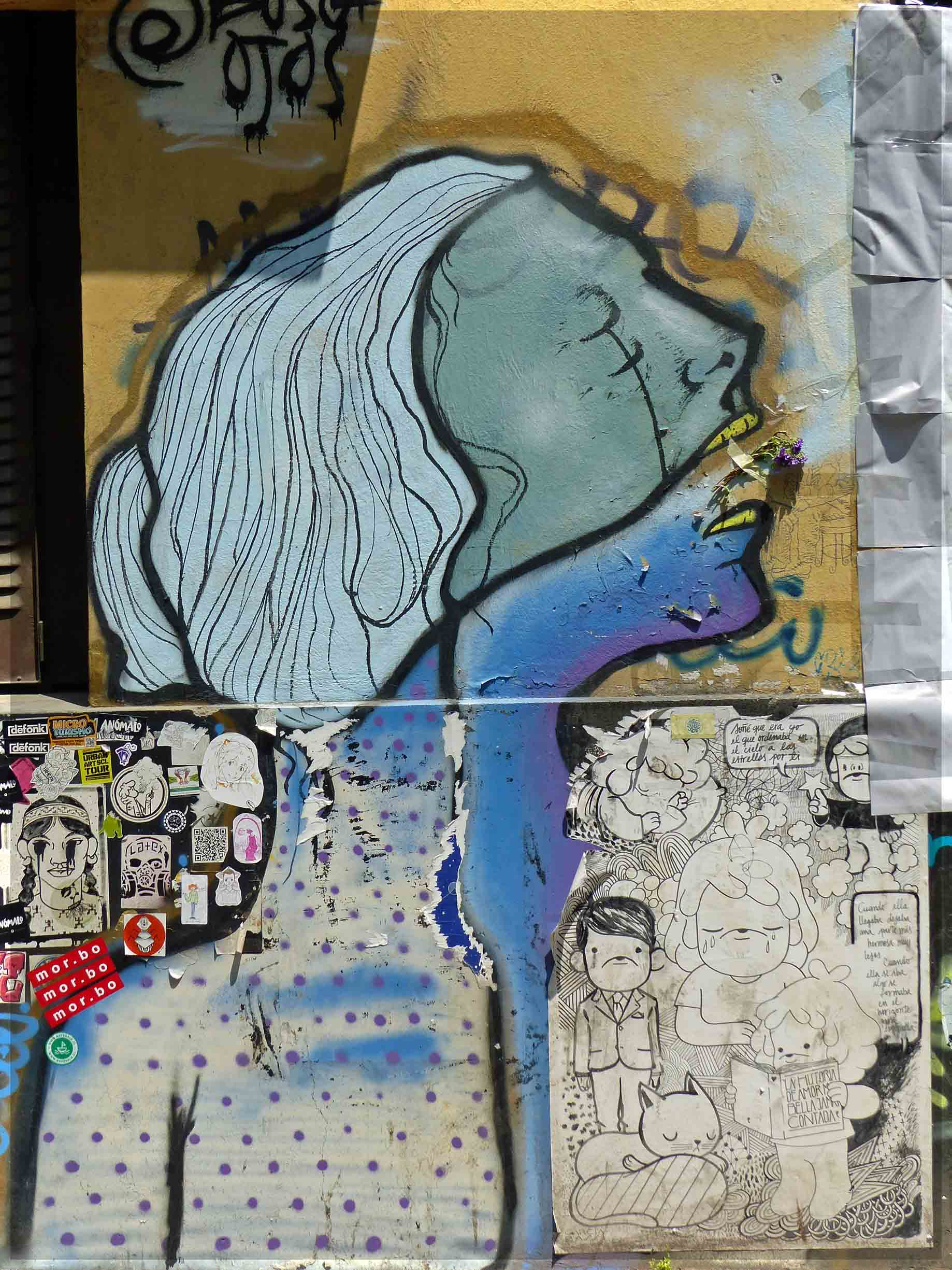 Wall painting of a woman in profile