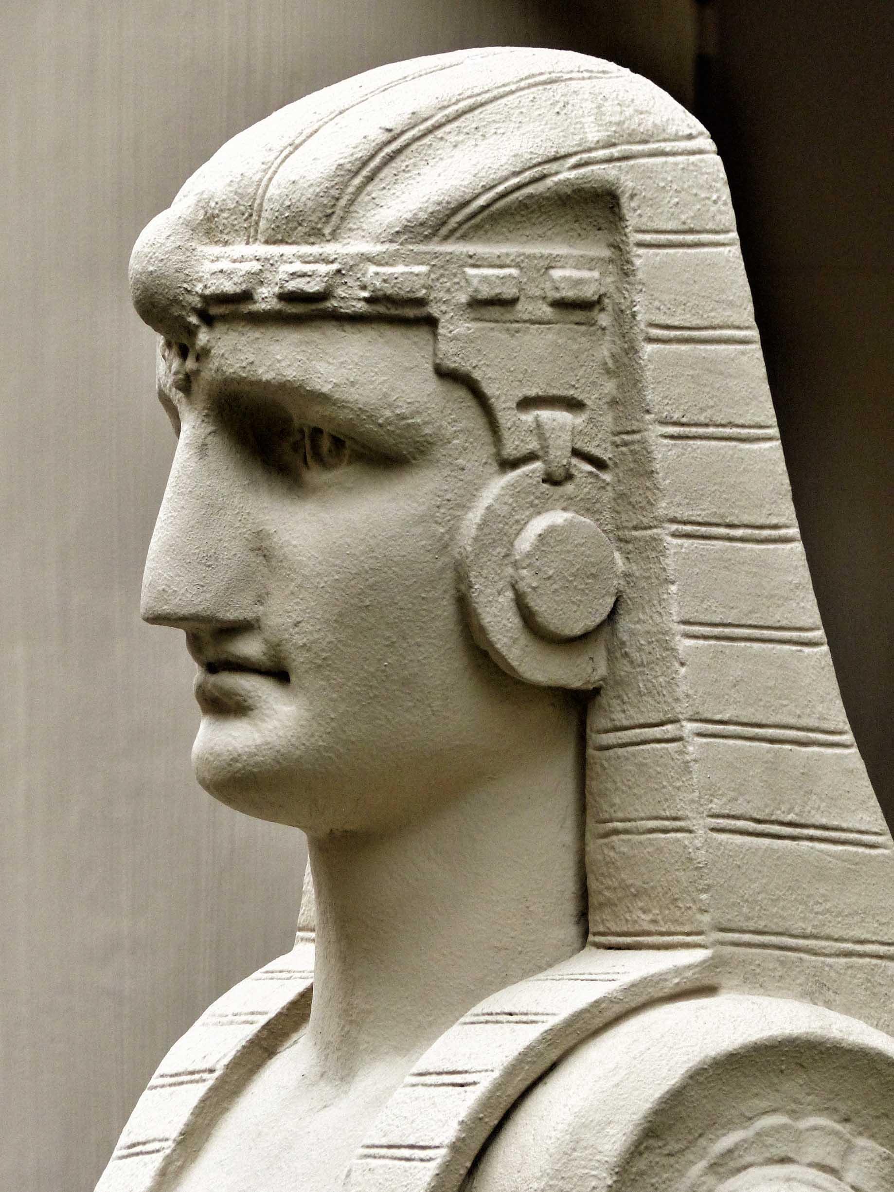 Stone sphinx's head