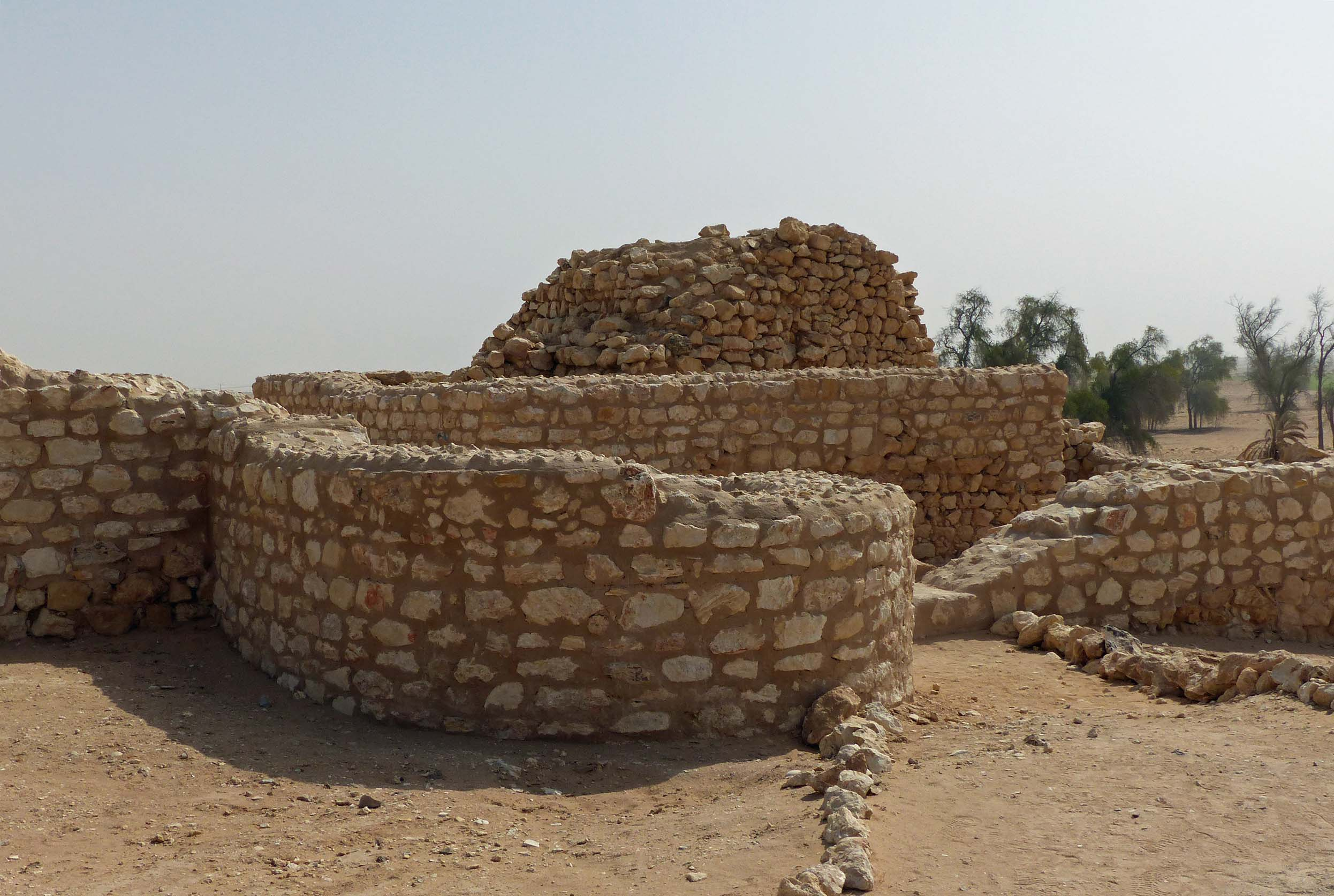 Low stone walls