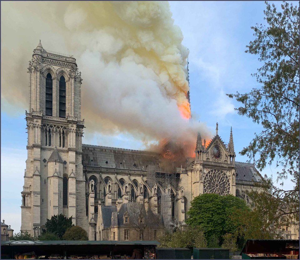 Cathedral on fire