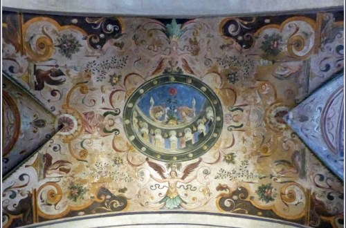 Ornate painted ceiling