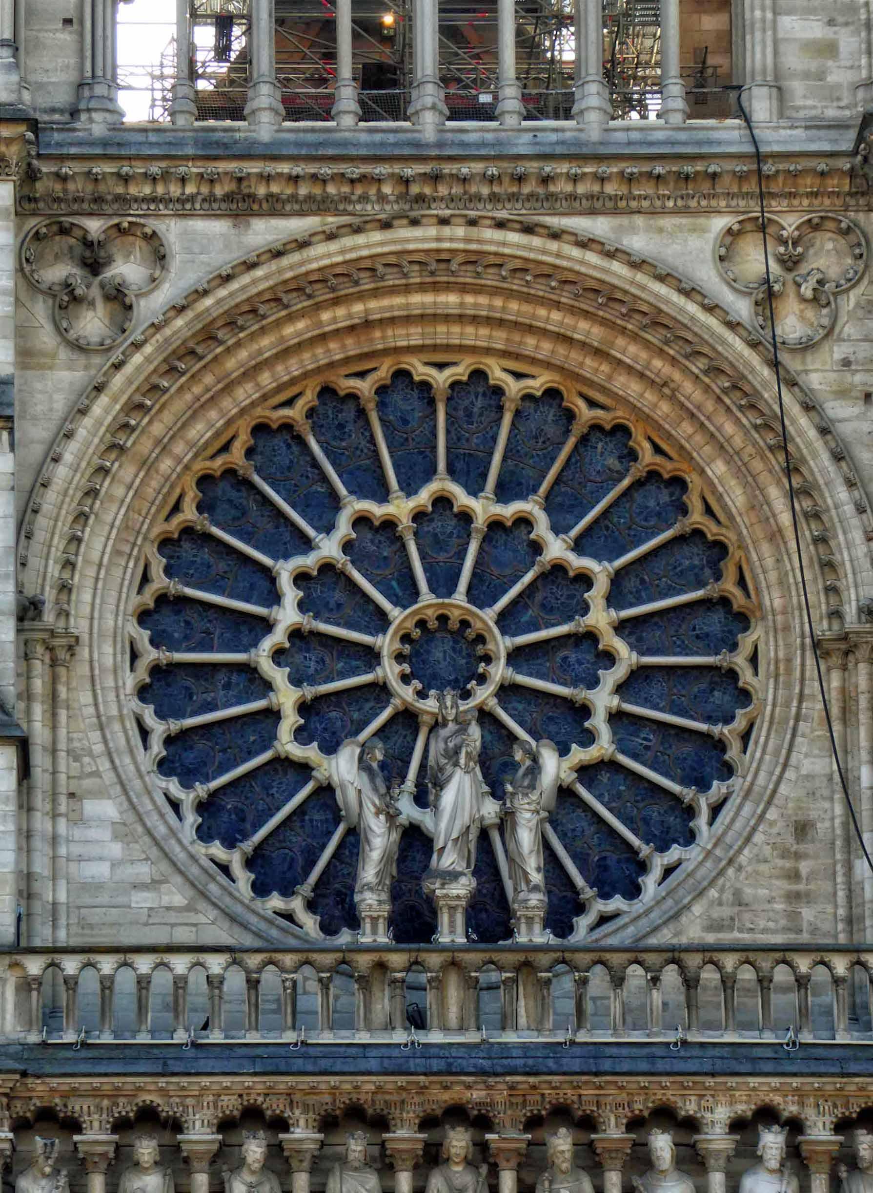Large round decorative window
