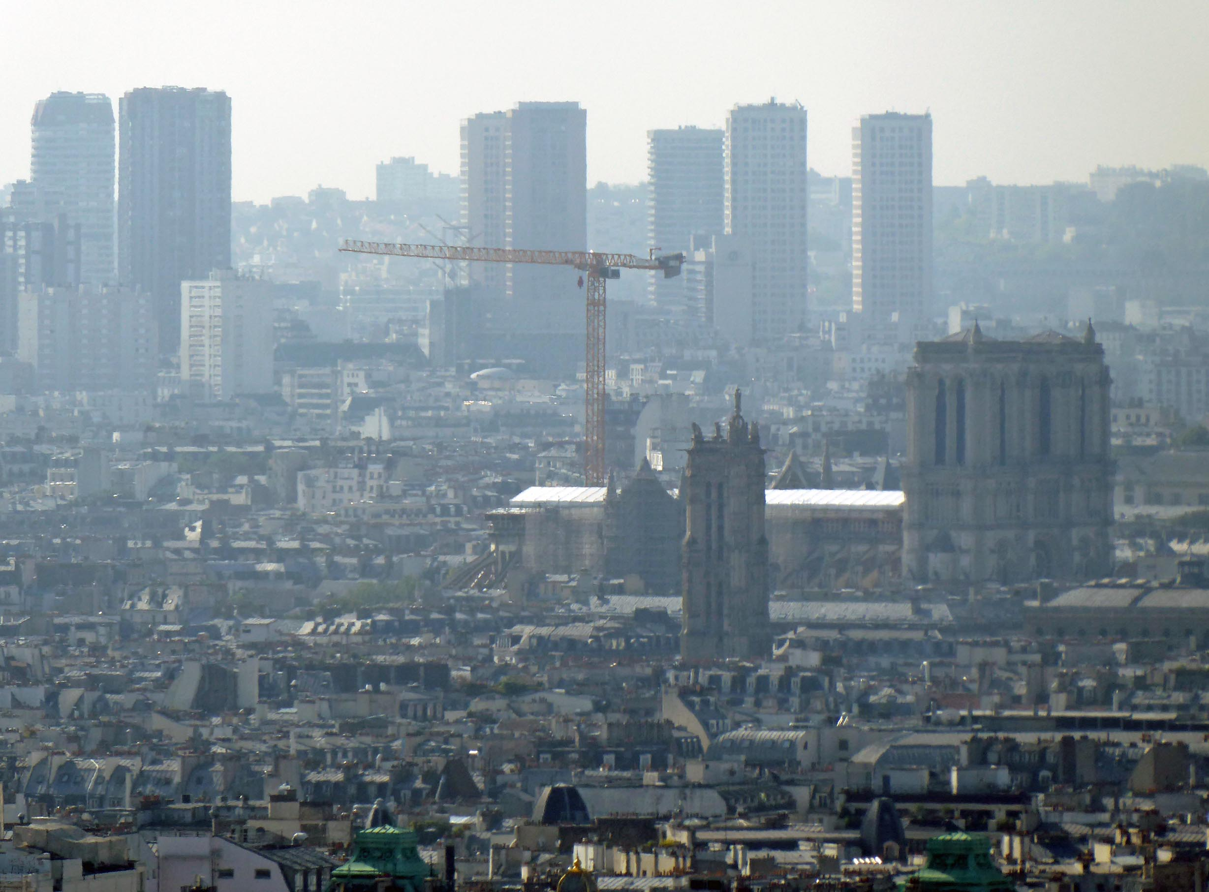 Cityscape with large crane