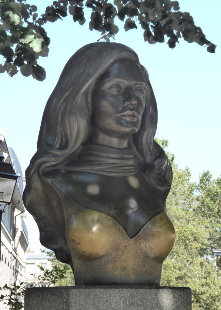 Bronze bust of a young woman