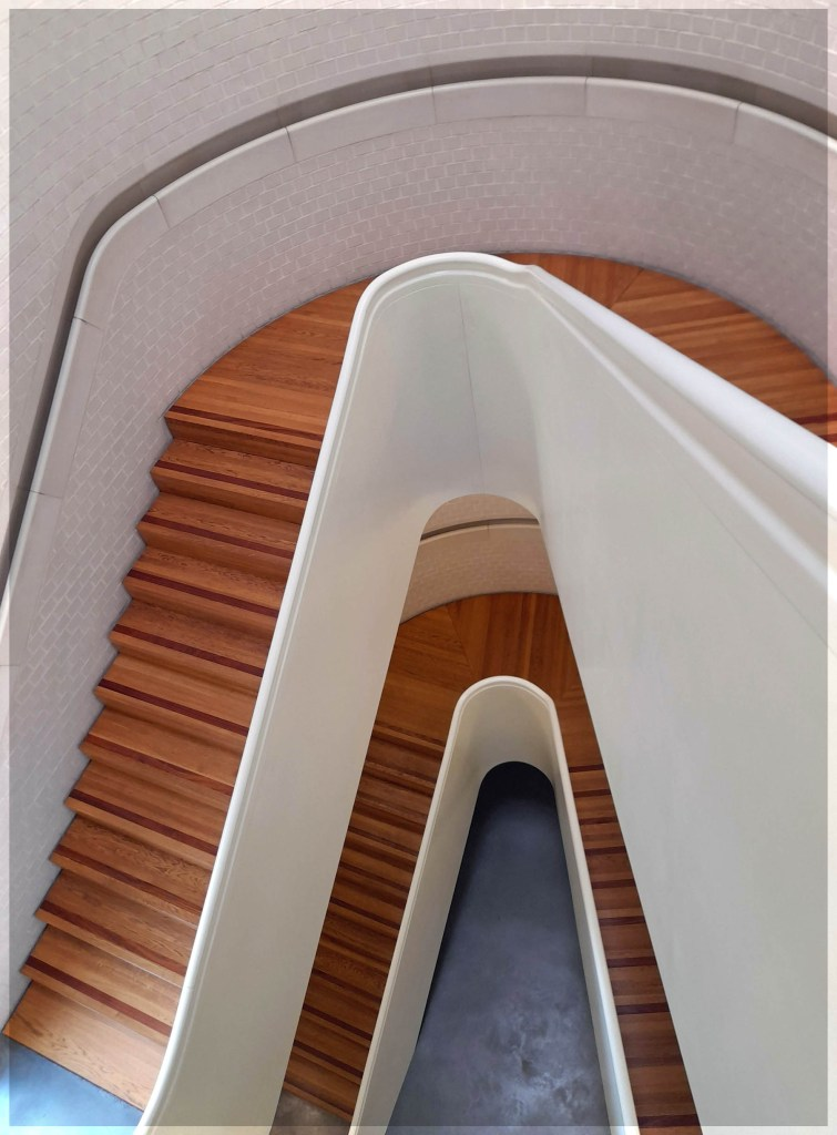 Looking down a staircase