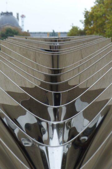 Shiny metal fins