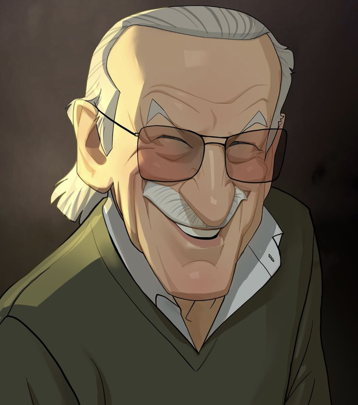 Stan Lee, Caricature by Xi Ding, from Austria