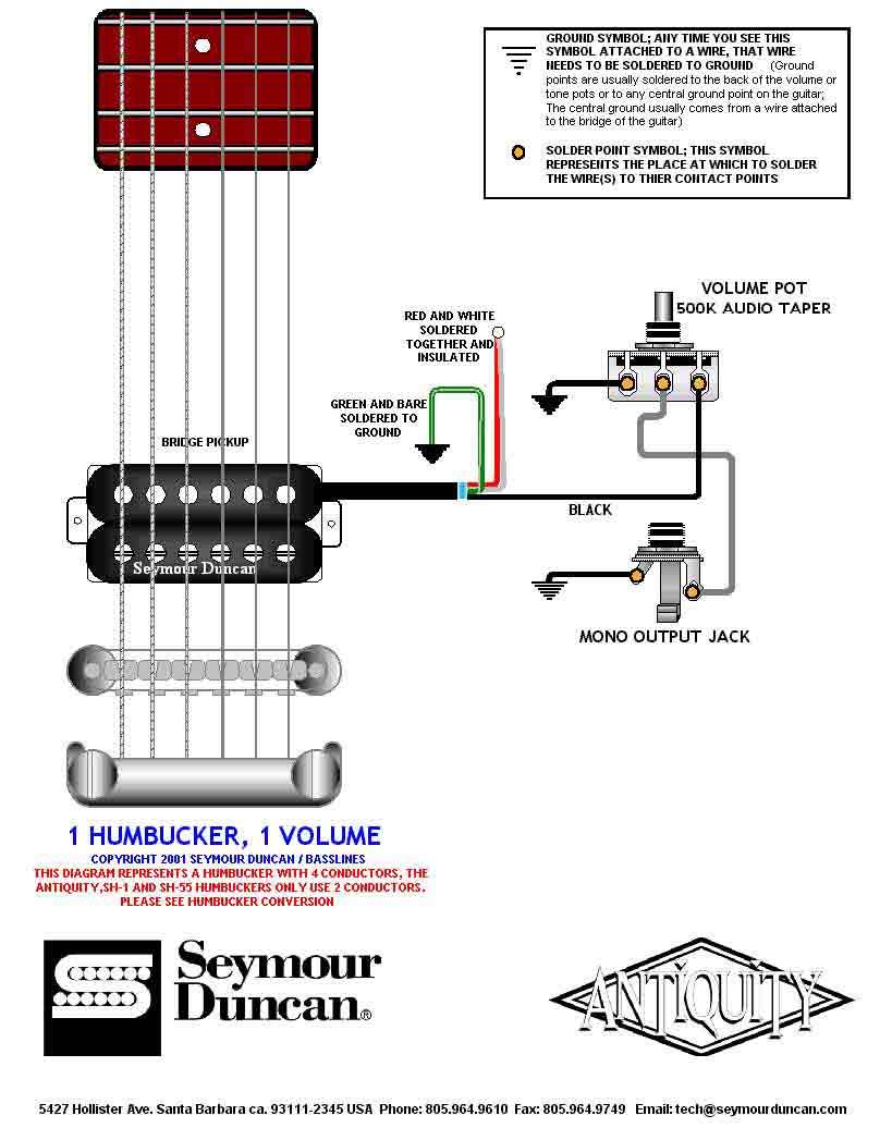 seymour duncan dimebucker wiring schematics sh 13 four wire seymour rh banyan palace com Seymour Duncan Wiring Codes Seymour Duncan Humbucker Wiring Diagrams