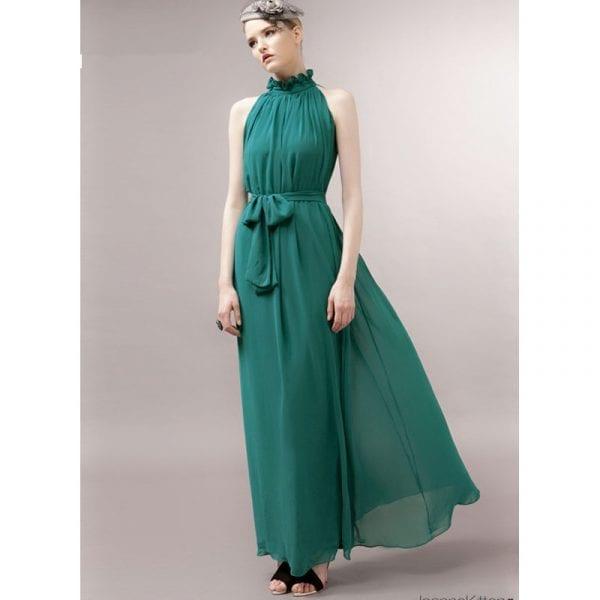 2018 New Maternity Dresses long Chiffon Dress Clothes For Pregnant Women 1