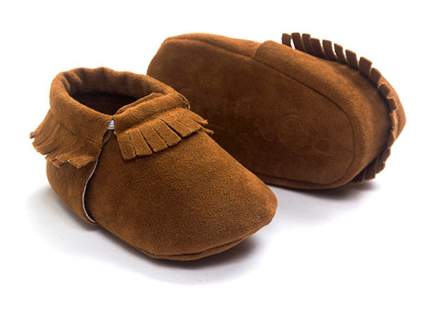 PU Suede Leather Newborn Baby Boy Girl Moccasins Soft Shoes Fringe Soft Soled Non-slip Crib First Walker 1